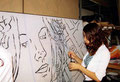 "Academia de Arte Yepes Chicago students painting the ""City of Escondido"" Mural • Chicago, IL  USA"