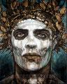 "Shotgun Messenger ©2000, Acrylic on Canvas, Dimensions 24"" w x 30"" h, Robert Rodriguez Collection"