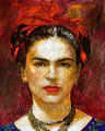 "Solamente Frida ©2008, Acrylic on Canvas, Dimensions 36"" w x 45"" h, Private Collection"