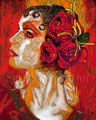 """A Rose by any Other Name ©2010, Acrylic on Canvas, Dimensions 24"""" w x 30"""" h, Private Collection"""