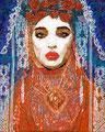 "Fluer de Lis ©2008, Acrylic on Canvas, Dimensions 32 3/4"" w x 40 1/4"" h, Private Collection"