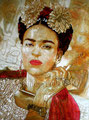 """Autumn Frida II© 2011, Acrylic on Canvas, Dimensions 30"""" w x 40"""" h, Private Collection"""