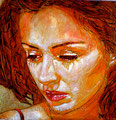 """Penelope ©2011, Acrylic on Canvas, Dimensions 9"""" w x 9"""" h, Private Collection"""