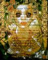 """DNA: Dream ©2009, Acrylic & Gold Leaf on Canvas, Dimensions 23 1/2"""" w x 30"""" h"""