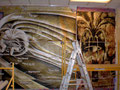 "Academia de Arte Yepes students painting the Saturn Data Return ""Cassini"" Mural for NASA •Los Angeles, CA  USA"