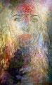 "Zen: Portrait of Salma Hayek ©2006, Acrylic on Canvas, Dimensions 60"" w x 96"" h, Robert Rodriguez Collection"