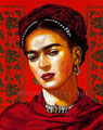 "Frida I ©2010, Acrylic on Canvas, Dimensions 24"" w x 30"" h, Private Collection"