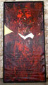 """Red Soy Ilegal ©2006, Acrylic on Canvas, Dimensions 60"""" w x 96"""" h, Robert Rodriguez Collection"""