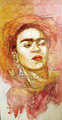 "Frida Study 1998, Acrylic on Canvas, Dimensions 48"" w x 96"" h, Private Collection"