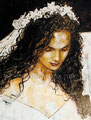 "The Bride ©2000, Acrylic on Canvas, Dimensions 36"" w x 48"" h, Private Collection"