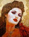 "La Vie en Rose II ©2009, Acrylic on Canvas, Dimensions 16"" w x 20"" h, Private Collection"