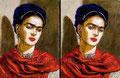 """Frida I & Frida II ©2008, Acrylic on Paper, Dimensions 20"""" w x 26"""" h"""