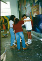 "Academia de Arte Yepes students painting the ""Performing Arts Center"" Mural • Los Angeles, CA  USA"