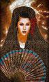 "Golondrina Presumida ©2009, Acrylic on Canvas, Dimensions 36"" w x 60"" h, Private Collection"
