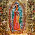 "Guadalupe Madonna ©2012, Acrylic on Canvas, Dimensions 22 1/2"" w x 22 1/2"" h, Private Collection"