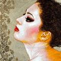 "Swan Lake ©2011, Acrylic on Canvas, Dimensions 12"" w x 12"" h"