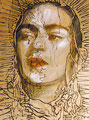 """Frida del Tepeyac ©2006, Acrylic on Canvas, Dimensions 36"""" w x 48"""" h, Private Collection"""