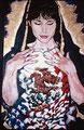 "Alma Mexicana ©1991, Acrylic on Canvas, Dimensions 48"" w x 72"" h, Anthony Kiedis Collection"