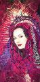 "La Magdelena ©2000, Acrylic on Canvas, Dimensions 48"" w x 96"" h, Cheech Marin Collection"