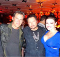 "Josh ""Sin City 2"" Brolin, Carlos ""El Mariachi' Gallardo, and Gracie Rae at ""Machete Kills"" Premiere After-Party at Regal 'Live' - Conga Room. October 2, 2013, Downtown Los Angeles, California USA"