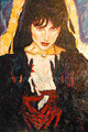 """Guadalupe ©1991, Acrylic on Canvas, Dimensions 36"""" w x 56"""" h"""