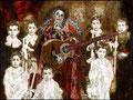 "La Llorona: Greatest Hits ©2008, Acrylic on Canvas, Dimensions 90"" w x 67"" h, Private Collection"