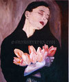 """Untitled ©1989, Acrylic on Canvas, Dimensions 36"""" w x 48"""" h, Madonna Collection"""