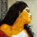 """Carmen ©2011, Acrylic on Canvas, Dimensions 12"""" w x 12"""" h, Private Collection"""