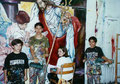 "Academia de Arte Yepes students painting the ""White Memorial Hospital"" Mural • Los Angeles, CA  USA"