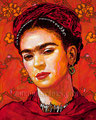 "Frida ©2010, Acrylic on Canvas, Dimensions 24"" w x 30"" h"
