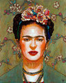 "Autumn Frida ©2011, Acrylic on Canvas, Dimensions 16"" w x 20"" h, Private Collection"