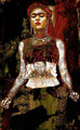 "Frida 101: Diego es mi Bitch ©2008, Acrylic on Canvas, Dimensions 42"" w x 72"" h, Private Collection"