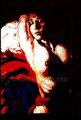"La Dormida ©1991, Acrylic on Paper, Dimensions 24"" w x 24"" h"
