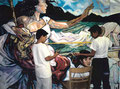 "Academia de Arte Yepes students painting the ""El Sereno Youth Center"" Mural • Los Angeles, CA  USA"