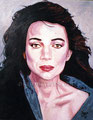 "Portrait of Lena Olin ©1989, Acrylic on Canvas, Dimensions 24"" w x 30"" h, Private Collection"