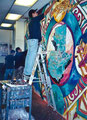 "Academia de Arte Yepes students painting the ""Latino Museum of Art and Culture"" Mural • Los Angeles, CA  USA"