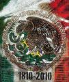 "Mexico Flag ©2010, Acrylic on Canvas, Dimensions 31"" w x 37"" h"
