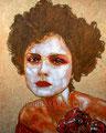 "La Vie en Rosa I ©2009, Acrylic on Canvas, Dimensions 16"" w x 20"" h, Private Collection"