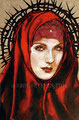 "Our Lady of the Thorn ©2000, Acrylic on Canvas, Dimensions 24"" w x 30"" h, Private Collection"