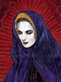 "Red Madonna ©2000, Acrylic on Canvas, Dimensions 36"" w x 48"" h, Cheech Marin Collection"