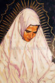 "White Madonna ©1988, Acrylic on Canvas, Dimensions 25"" w x 40"" h, Private Collection"