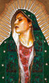 "Virgen de Guadalupe ©2009, Acrylic on Canvas, Dimensions 36"" w x 60"" h, Clarissa Pinkola Estes, PhD. Collection, Untie the Strong Woman Book Cover 2011"