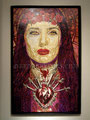 "Purple Madonna: Portrait of Salma Hayek ©2006, Acrylic on Canvas, Dimensions 60"" w x 96"" h, Robert Rodriguez Collection"