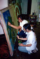 "Academia de Arte Yepes students painting the ""City of Escondido"" Mural • Los Angeles, CA  USA"