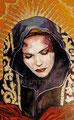 """La Dolorosa ©1998, Acrylic on Canvas, Dimensions 25"""" w x 40"""" h, Private Collection"""