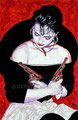 "Adelita ©1991, Acrylic on Paper, Dimensions 25"" w x 40"" h"