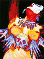 "Coatlicue ©1991, Acrylic on Canvas, Dimensions 36"" w x 48"" h, Anthony Kiedis Collection"