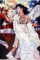 """El Fuego de Los Angeles ©1991, Acrylic on Canvas, Dimensions 60"""" w x 96"""" h, Private Collection"""