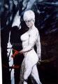 "Diana: Portrait of Patricia Arquette ©1996, Acrylic on Canvas, Dimensions 48"" w x 72"" h, Private Collection"