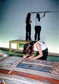 "Academia de Arte Yepes students painting the ""Performing Arts Center Mural • Chicago, IL  USA"